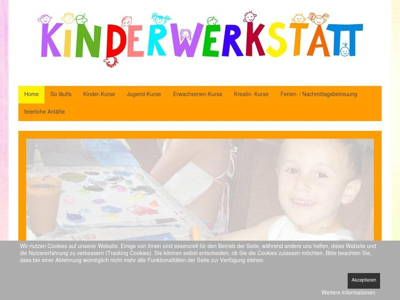 Screenshot von www.kinderwerkstatt.de